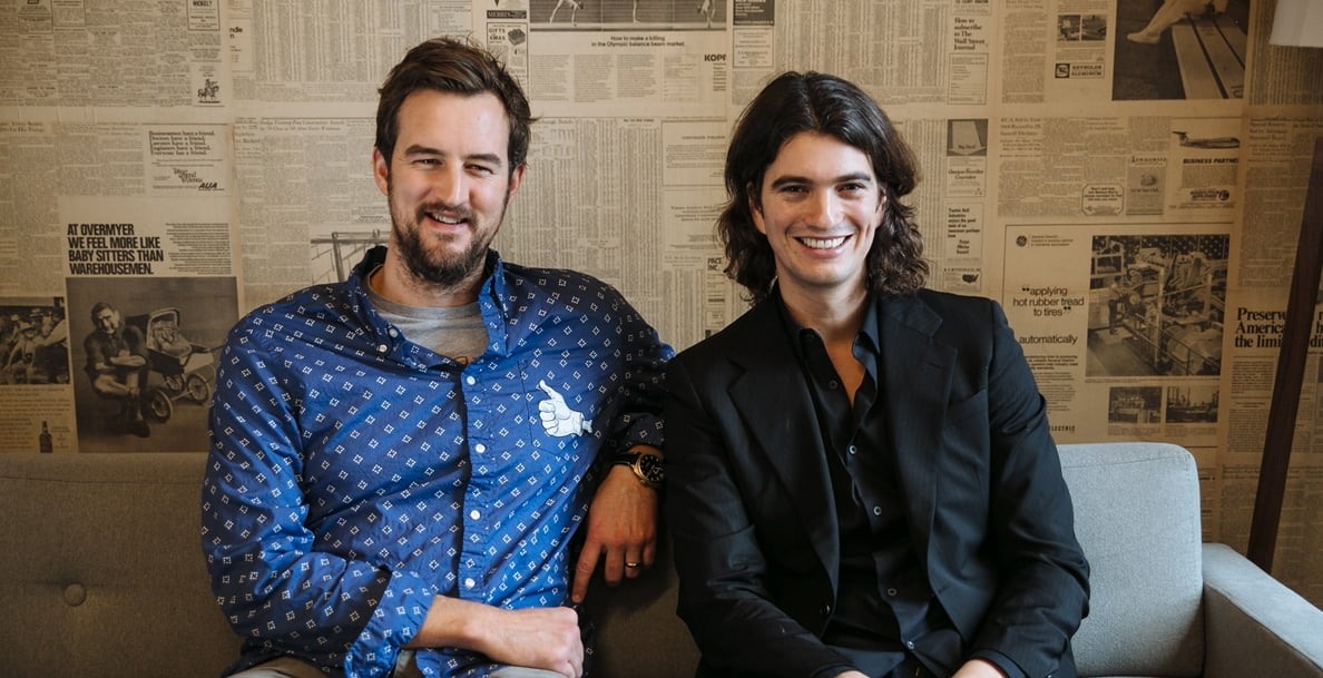 Miguel McKelvey and Adam Neumann, founders of WeWork and WeLive. Courtesy