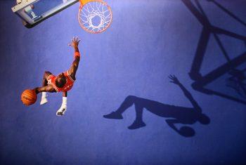 Michael Jordan slam dunk basketball via Cliff/Flickr