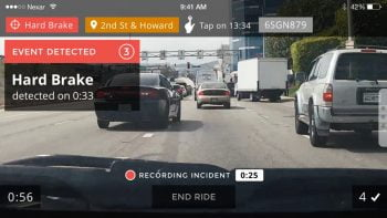 Nexar App Screenshot. Courtesy