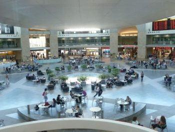 ben gurion airport departure hall via Flickr