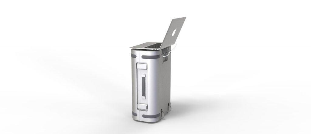 Samsara Smart Aluminum Suitcase, Courtesy