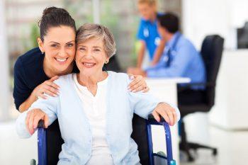 elderly woman with female caretaker via Flickr