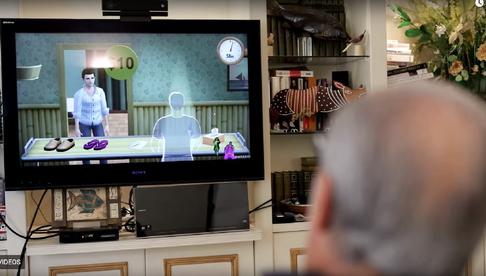 A screenshot from an Intendu promotional video showing one of its cognitive games.