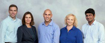 Duality founders from left to right: Prof. Kurt Rohloff, Prof. Shafi Goldwasser, Dr. Alon Kaufman, Ms. Rina Shainski, Prof. Vinod Vaikuntanathan. Courtesy