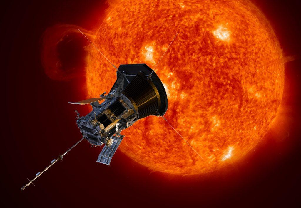 The Parker Solar Probe. Credit: NASA/Johns Hopkins APL/Steve Gribben