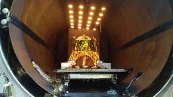 SpaceIL's Beresheet spacecraft. Photo by Yoav Weiss