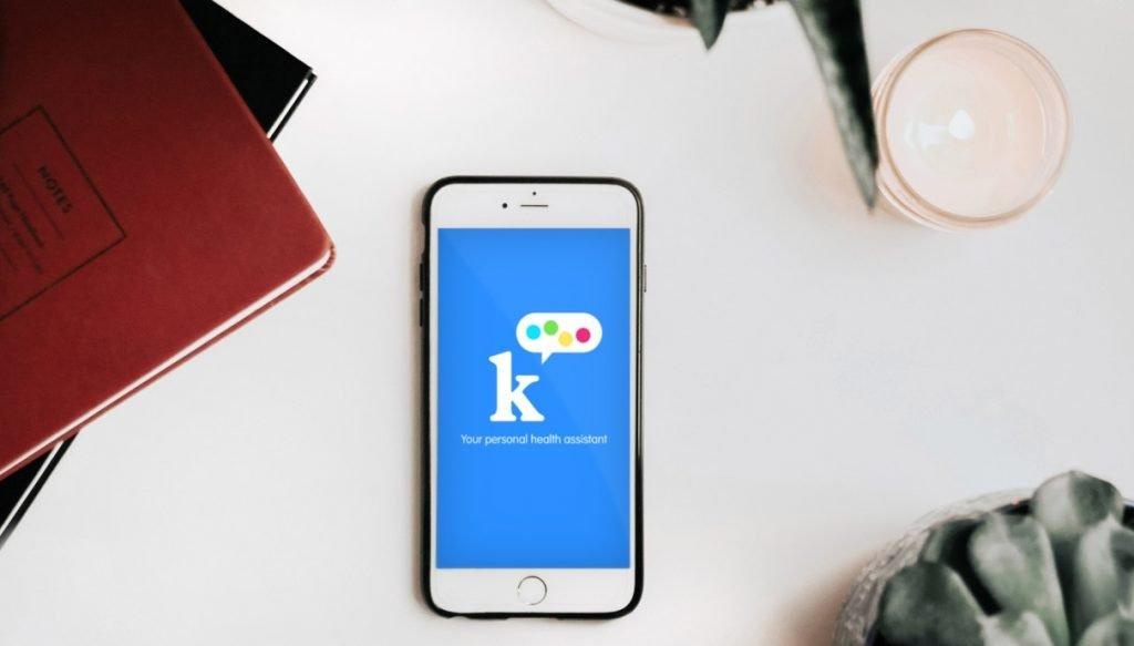K Health app. Photo via K Health's Facebook page