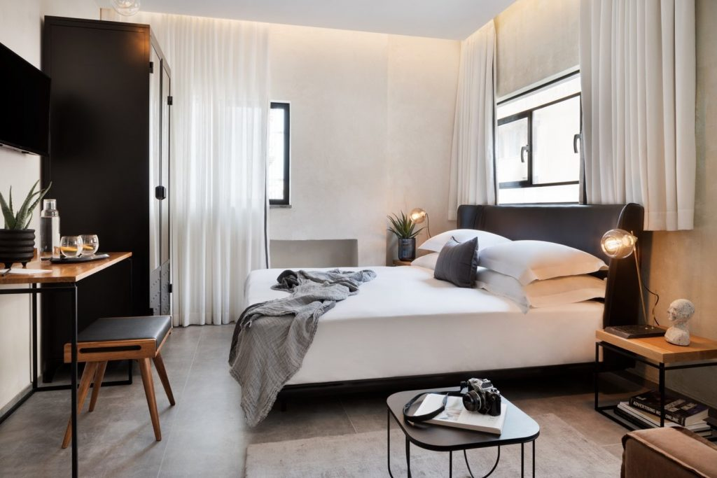 The Vera hotel deluxe room. Photo by Assaf Pinchuk