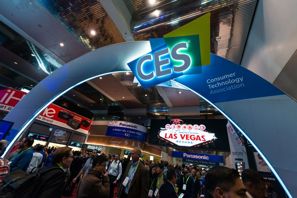The CES 2018 entrance arch at the Las Vegas Convention Center. Via CES