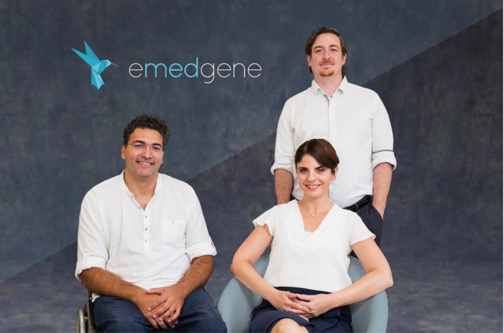 Emedgene founders Dr. Shay Tzur, Einat Metzer, and Niv Mizrahi. Courtesy