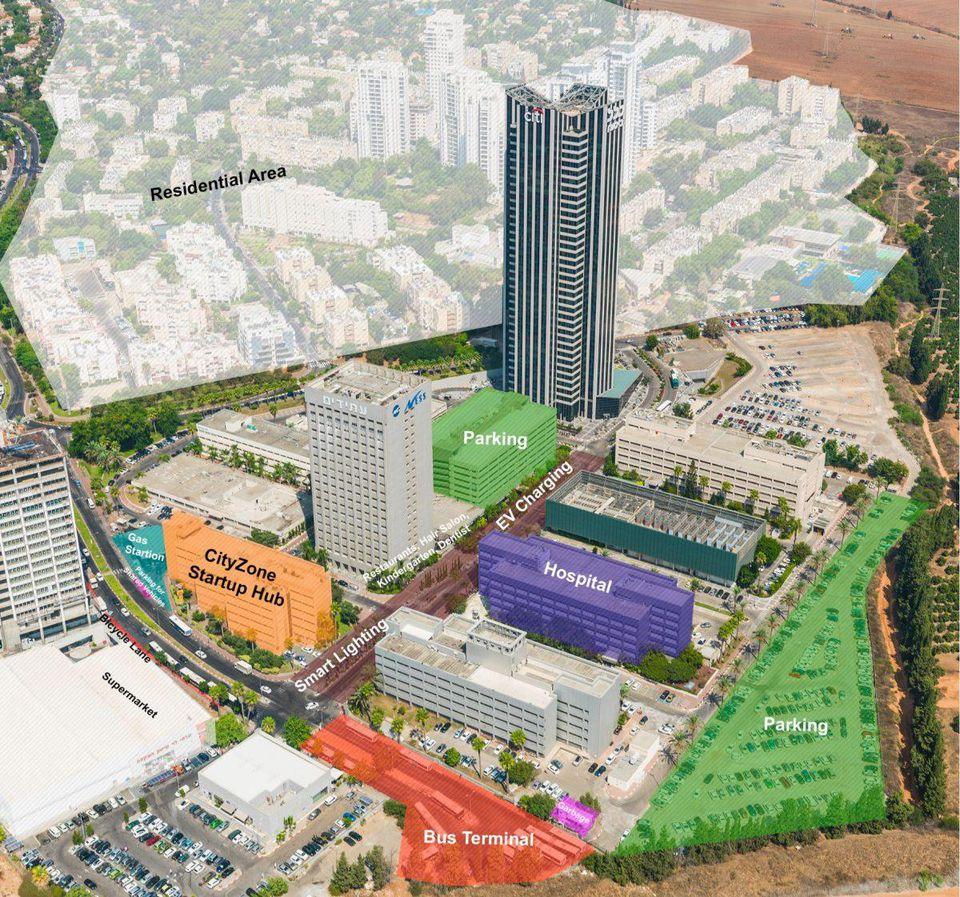 A rendering of Atidim Park where CityZone's living lab is located. Photo via CityZone