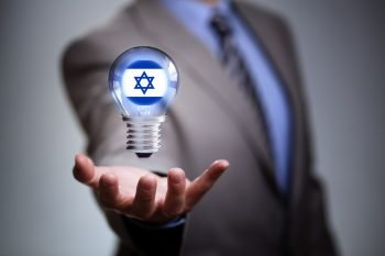 A business idea concept with an Israeli flag. Photo via Deposit Photos