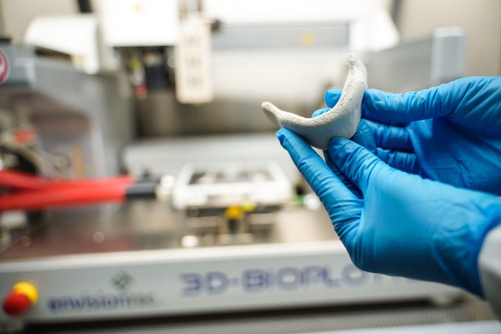 The 3D tissue printer at the Technion. Photo via the Technion's spokesperson's office.