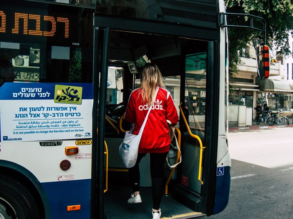 A bus in Tel Aviv. Deposit Photos