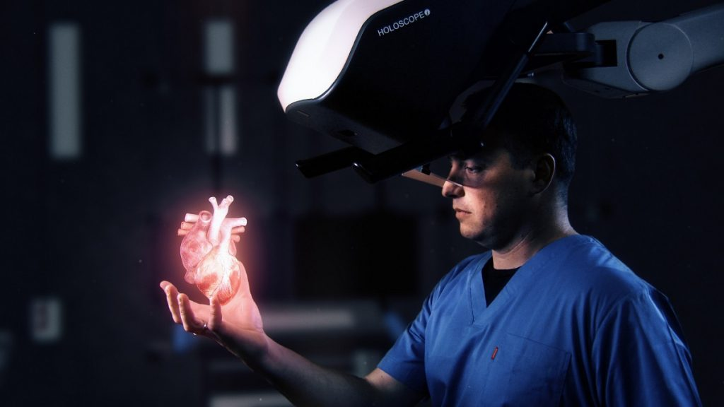HOLOCOPE-i Medical Holographic System By RealView Imaging. Photo via CNW Group/University Health Network