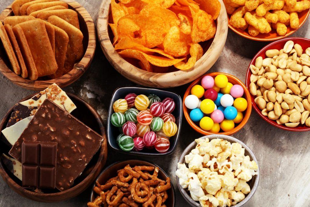 An illustrative photo of snacks. Deposit Photos