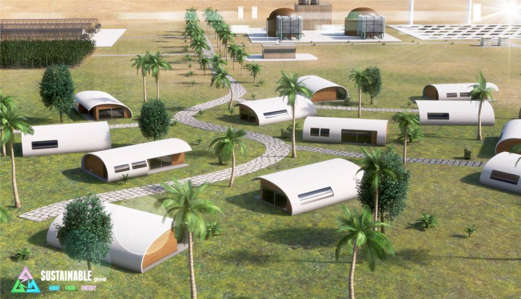 A sustainable village, as imagined by The Sustainable Group.