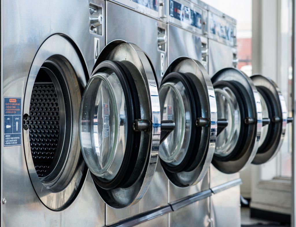 An illustrative photo of a laundromat. Deposit Photos