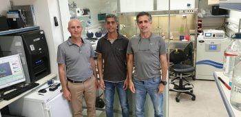 From left: Prof. Udi Qimron, Dr. Ido Yosef, and Dr. Motti Gerlic. Courtesy of Tel Aviv University