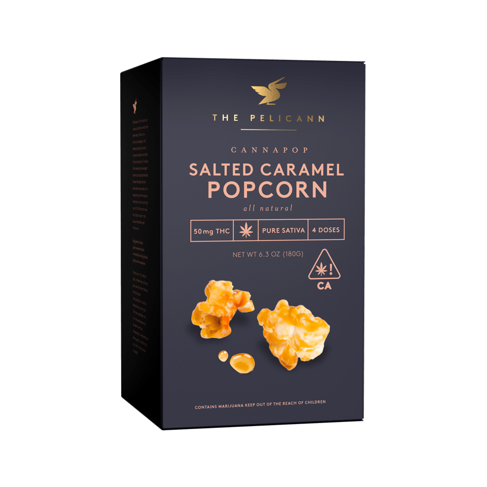 Caramel popcorn from Cannibble's brand The Pelicann. Courtesy