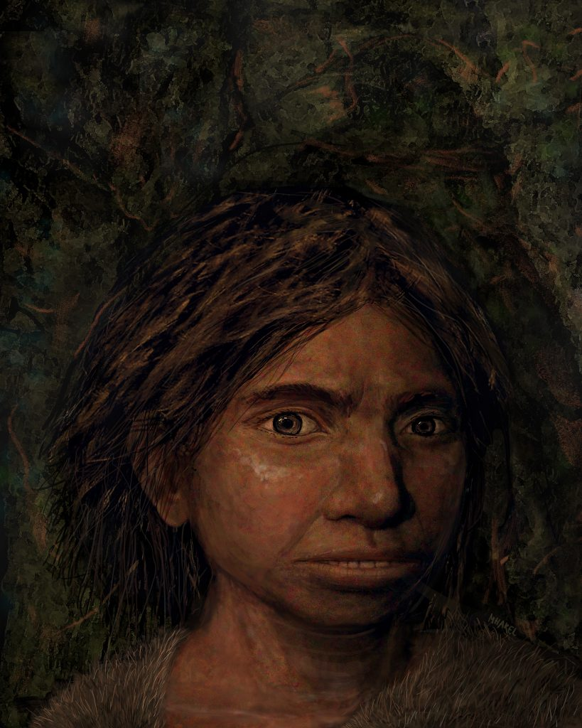 Portrait of a female Denisovan teen. Image by Maayan Harel