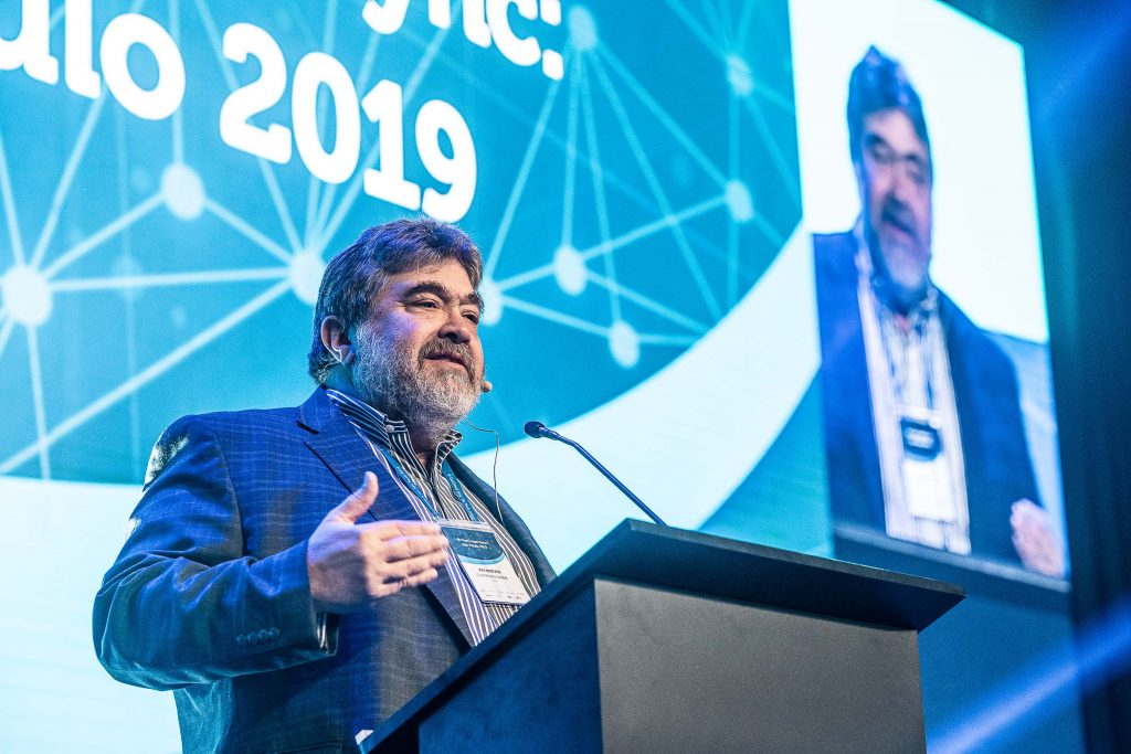 Jon Medved speaking at the OurCrowd Sync: Sao Paulo 2019 gathering on September 25, 2019. Photo by Deborah Blank