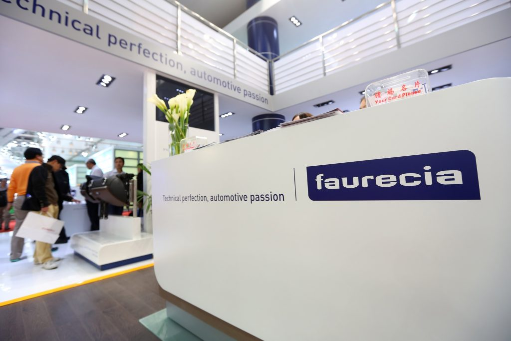 A Faurecia stand at the 15th Shanghai International Automobile Industry Exhibition in 2013. Deposit Photos