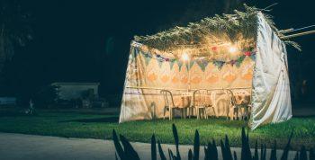 An illustrative photo of a sukkah. Deposit Photos