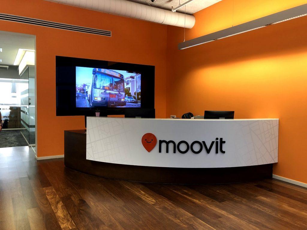 Moovit's offices. Courtesy