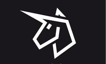 An illustrative unicorn logo. Deposit Photos