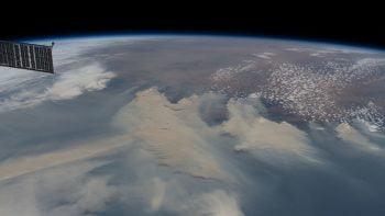 ISS image of Australia bushfires. By NASA ISS