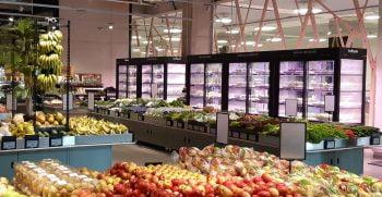 Infarm's urban farming system in Germany. Photo via Kroger