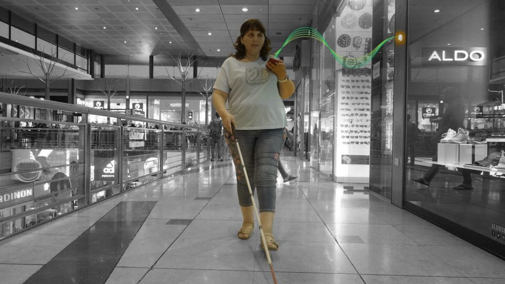 RightHear app navigation for the visually impaired. Courtesy