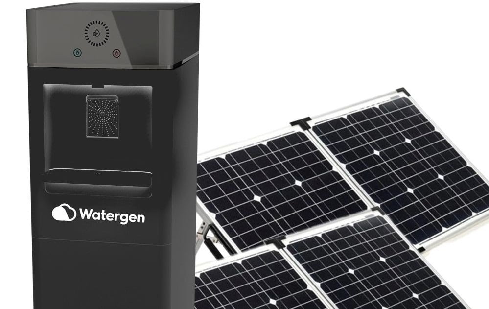 Watergen's Solar Genny, a water-from-air generator that runs on solar energy. Courtesy