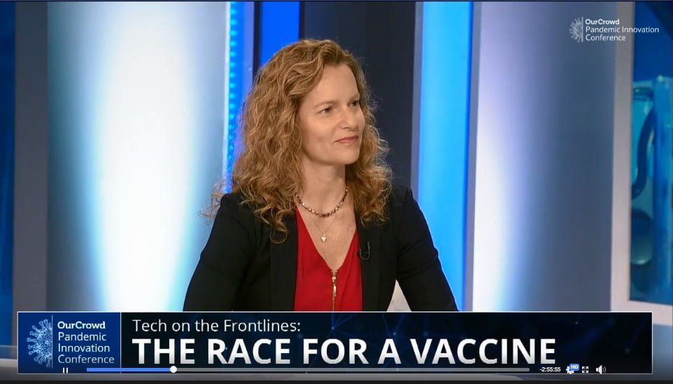 Sigal Kremer-Tal at the OurCrowd Pandemic Innovation Conference. Screenshot