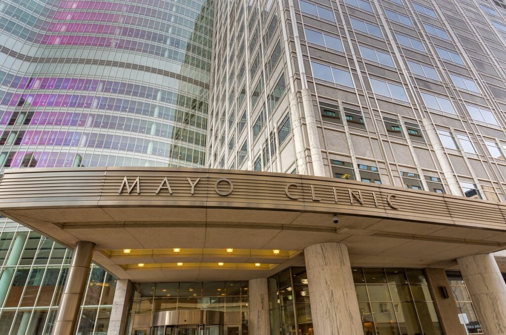The Mayo Clinic in Rochester. Deposit Photos