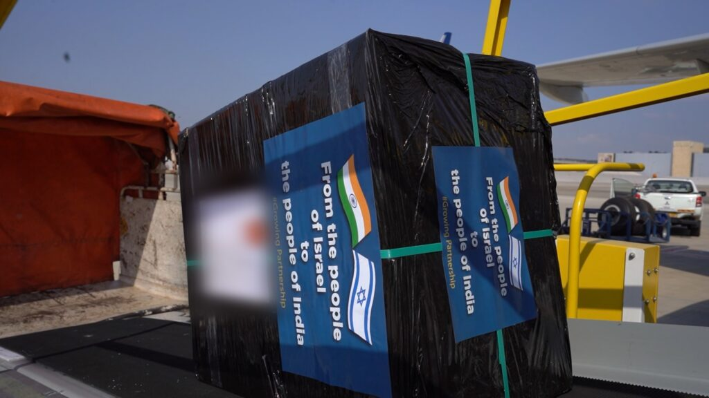 An Israeli delegation is traveling to India with a cargo of coronavirus testing technologies as part of a research agreement. Photo: Defense Ministry