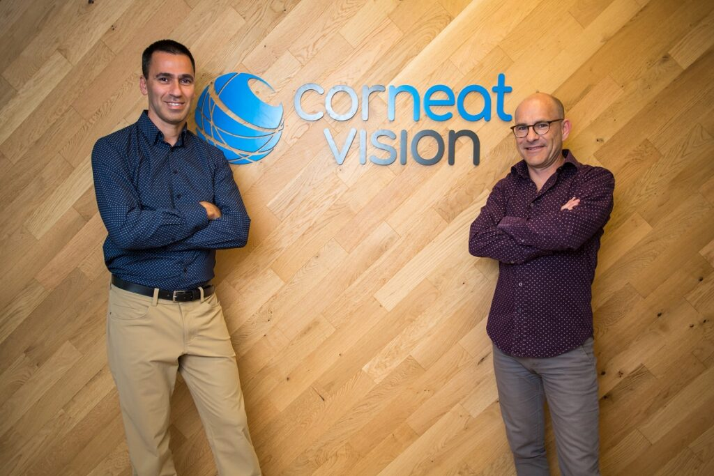CorNeat Vision co-founders Dr. Gilad Litvin, right, and Almog Aley Raz, left. Courtesy