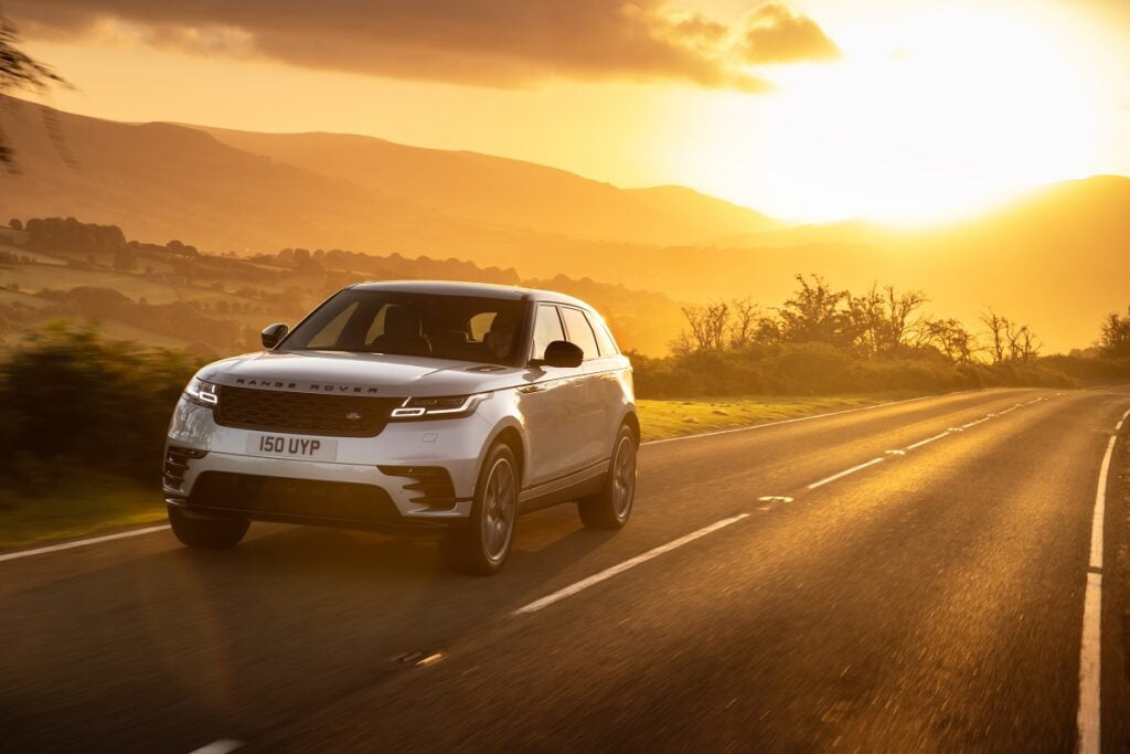 The Jaguar Range Rover Velar is one of the vehicles that will debut tech that cancels noise developed by Silentium. Courtesy: Jaguar Land Rover