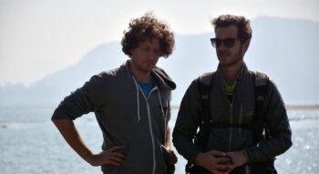 Director Dekel Berenson, left, while filming Ashmina in Nepal. Courtesy