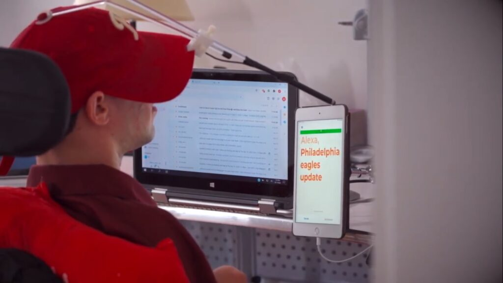 Voiceitt's app allows people with speech and motor impairments to communicate. Photo: Screenshot