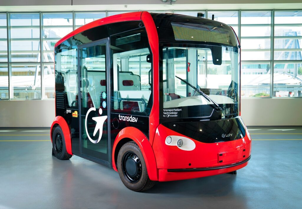 Mobileye, Transdev Autonomous Transport System and Lohr Group will integrate Mobileye's self-driving system into the i-Cristal autonomous electric shuttle, manufactured by Lohr Group, with plans to add it to public transportation services across the globe, starting in Europe. Photo: Mobileye