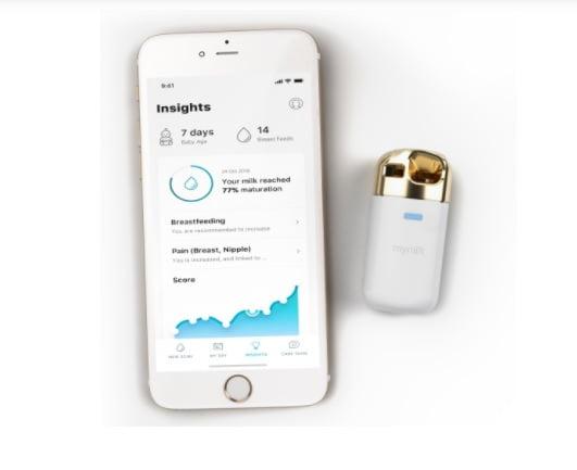 The MyLee breastmilk analysis device by MyMilk Labs. Screenshot