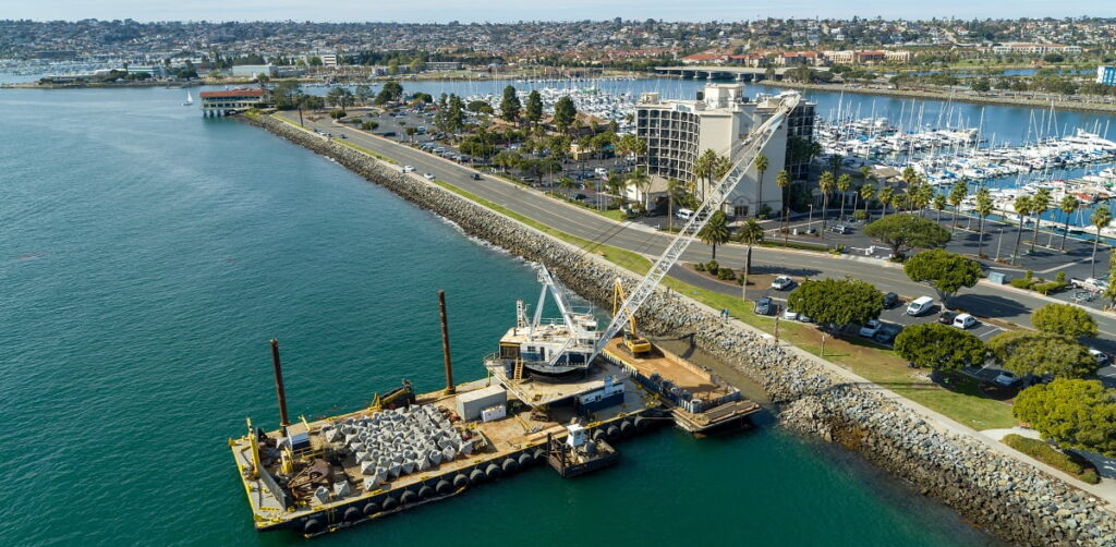 The Port of San Diego is installing marine-friendly concrete structures made by ECONcrete. Courtesy