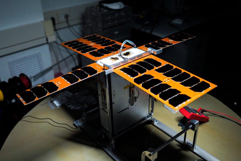 The nanosatellites developed for the Adelis-SAMSON mission. Photo: Nitzan Zohar, Technion, Spokesperson's Office