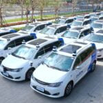 AutoX's driverless vehicle fleet. Courtesy