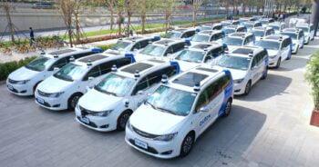 AutoX's driverless vehicle fleet. Courtesy