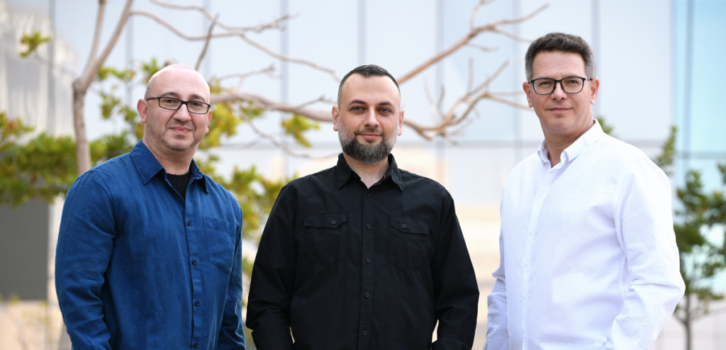 Cyberfish founders from left to right: Eugene Geht, Dima Kagan, and Amit Israel. Courtesy