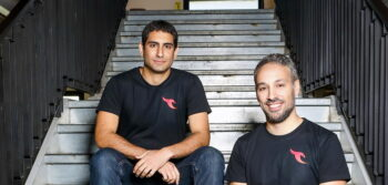 Talon Cyber Security founders Ohad Bobrov, right, and Ofer Ben-Noon, left. Photo by Shlomi Yossef