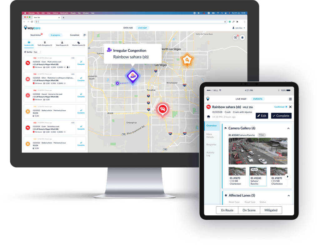 Waycare's road and traffic management system. Courtesy